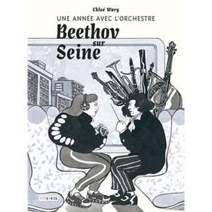 Couverture Beethov sur Seine, une année avec l'orchestre  #BD #RomanGraphique #NoirBlanc #Initiation #Découverte #Musique #Romantique #Beethoven #Insula #Orchestre #Emotion
