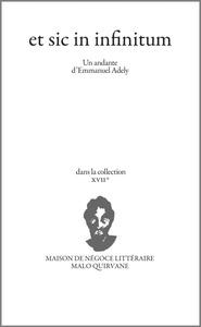 Couverture Et sic in infinitum  #Texte #Expérimental #Expression #Inspiration #Peinture #Louvre #Caravage