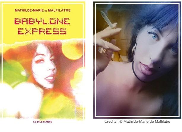 Couverture Babylone Express et photo auteur Chronique littérature roman société drogue amour guillaume cherel