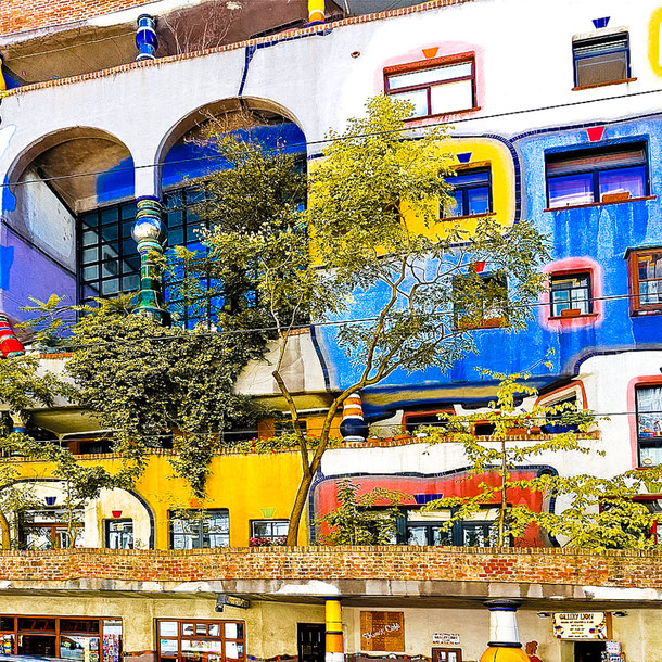 Vienna - unusual place to visit - Hundertwasser House