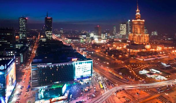 Вид из комнаты в Отеле Новотель в Варшаве