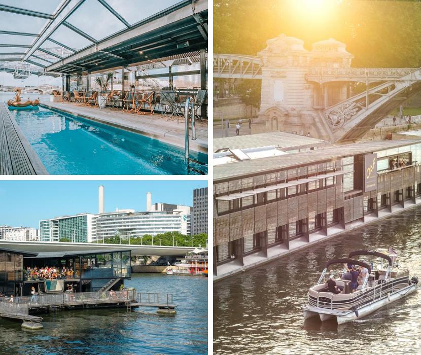 оригинальный отель в Париже на воде