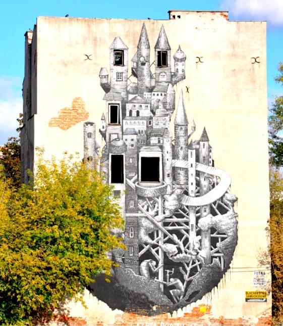 Варшава стрит арт в Старой Праге