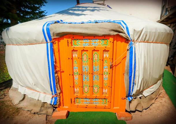 Монгольская юрта в Дрездене