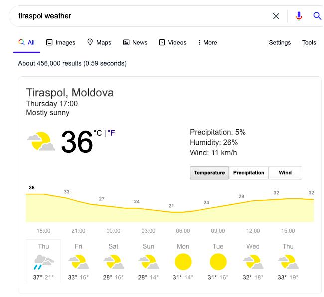 Travel advice for Tiraspol, Transnistria - Pridnestrovie