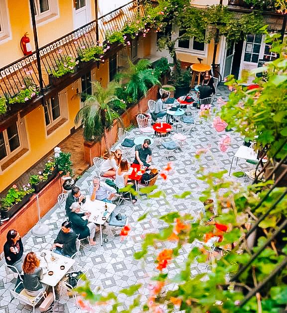 unique hotel in Vienna with a Mediterranean garden