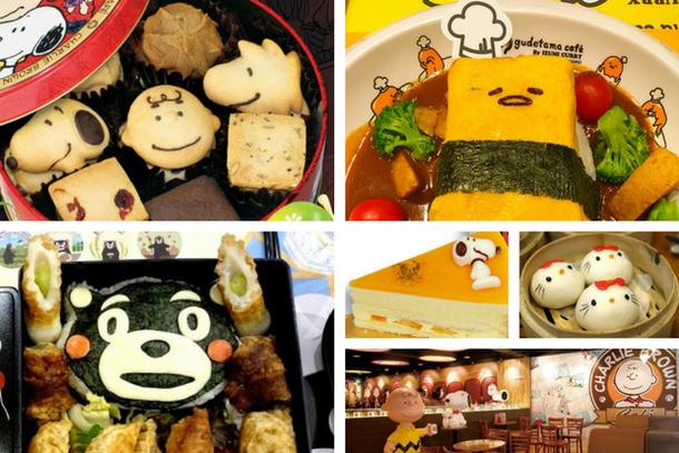 необычная еда в Гонконге в форме животных и героев мультиков