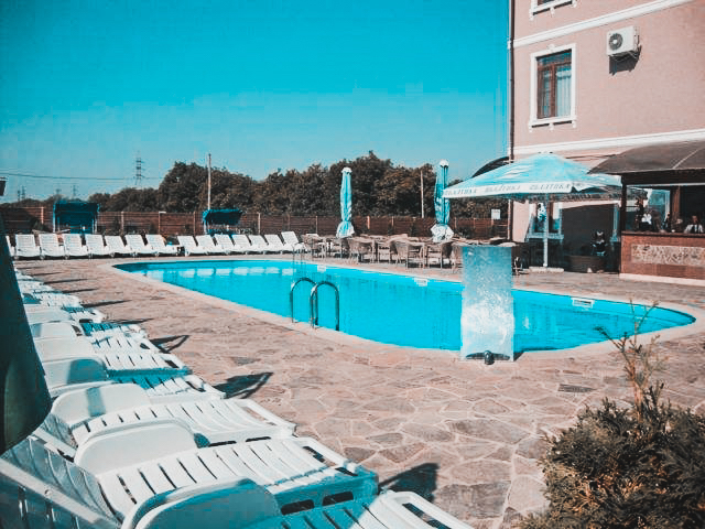 Hotel with a swimming pool in Tiraspol, Transnistria