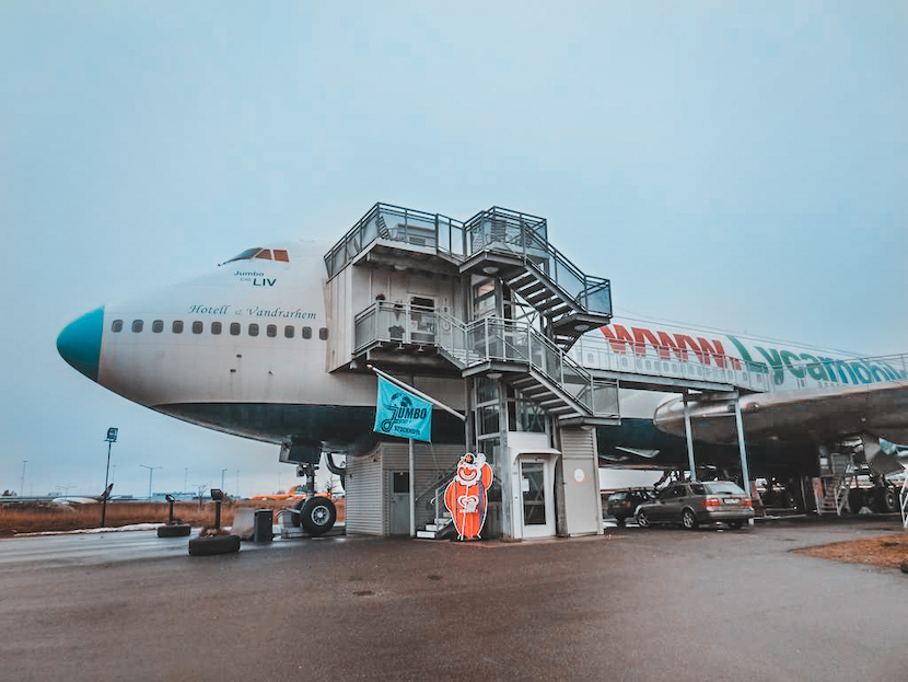 Unusual things to in Stockholm: stay in a hostel - Boeing