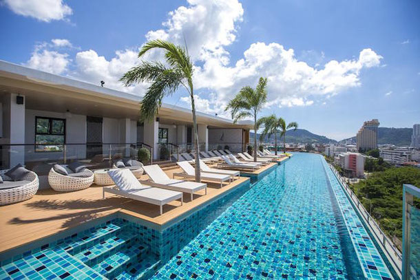 The Marina Phuket Hotel with a panoramic swimming pool