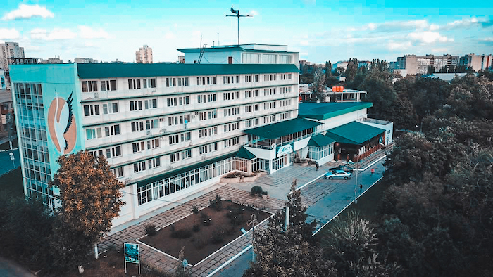 A hotel from the times of the USSR in Tiraspol, Transnistria