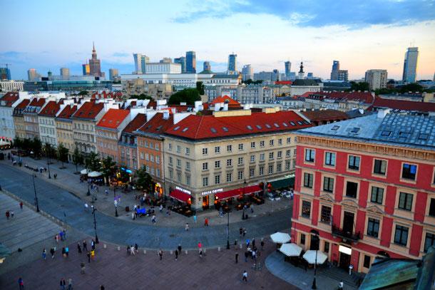 Прекрасный вид с на высотки Варшавы