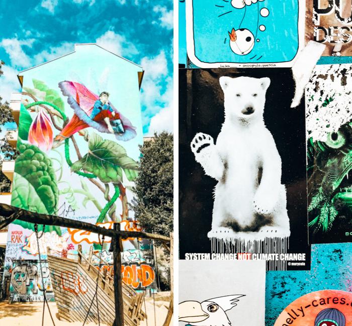 Street art in alternative Kreuzberg district of Berlin