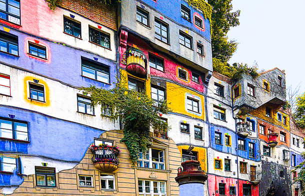 unique place in Vienna - Hundertwasser house