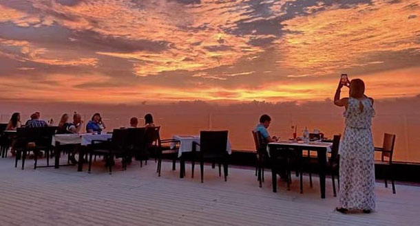 Amazing Sunset the rooftop restaurant in Phuket