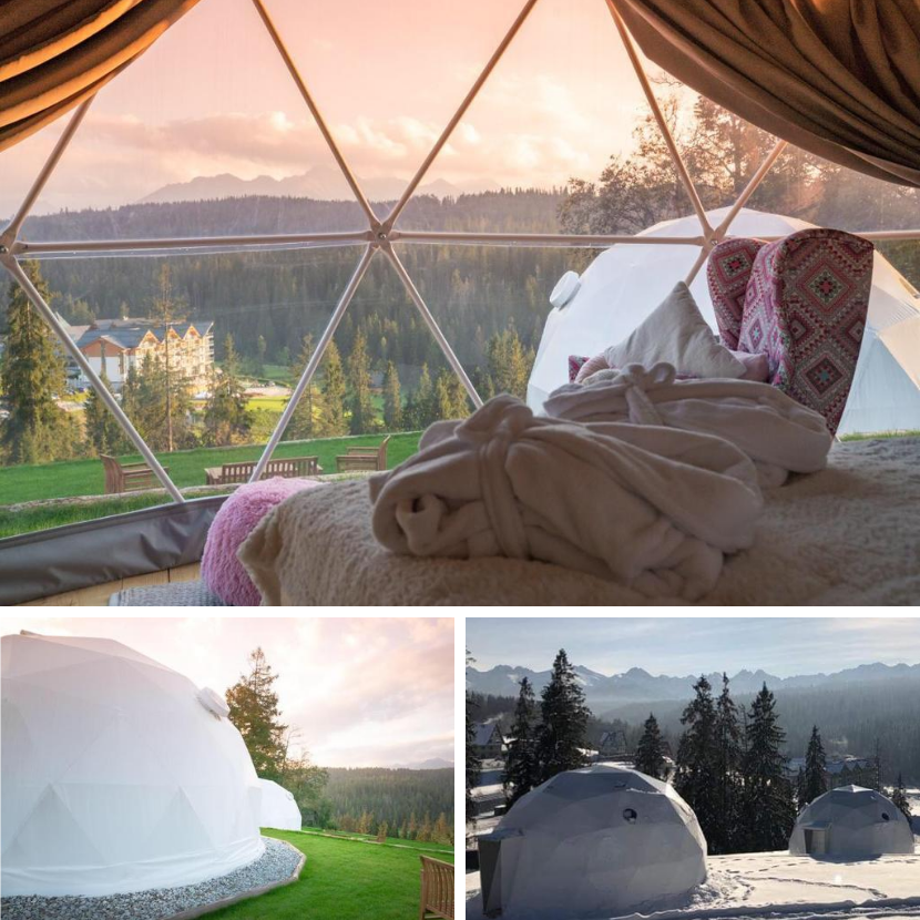 Unusual glamping hotel in the Polish Mountains, Tatry
