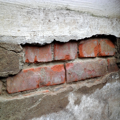 Frostschaden am Mauerwerk