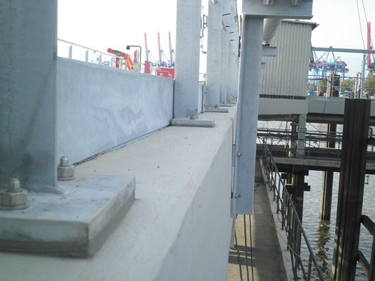 Betonsanierung Hamburger Hafen
