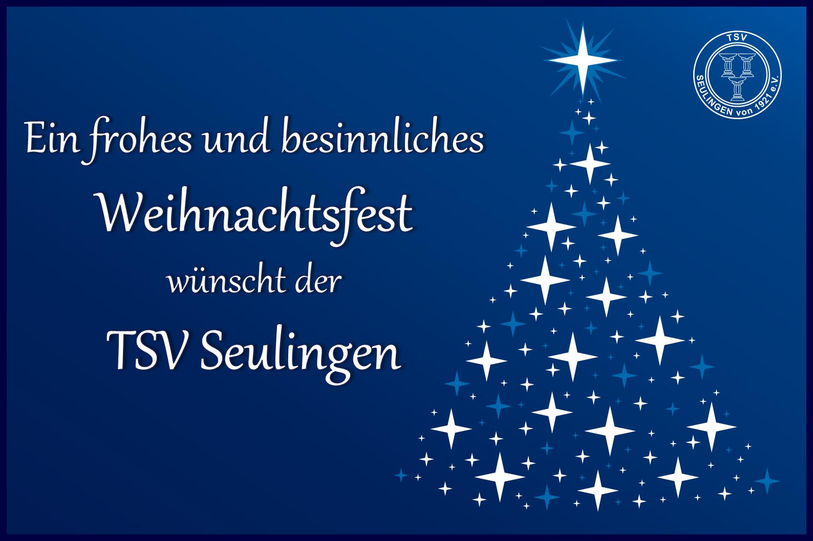 Weihnachtsgruß des TSV Seulingen