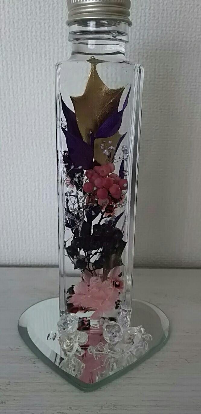 お客様の作品です。紫が綺麗ですね💜