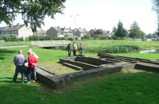 Alleen de fundering van de molen, nu gelegen langs de Burgemeester Keijzerweg is nog over en zichtbaar gemaakt door de gemeente.