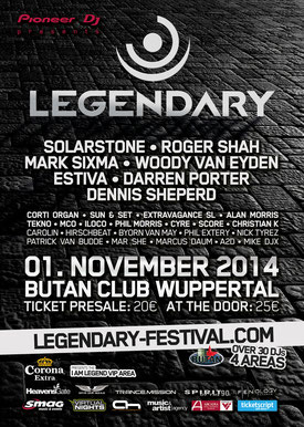 01.11.2014: Legendary Festival - Classics Floor presented by Spirit Of The 90s, Butan Club Wuppertal