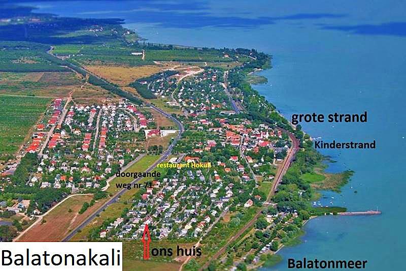 Luchtfoto van Balatonakali