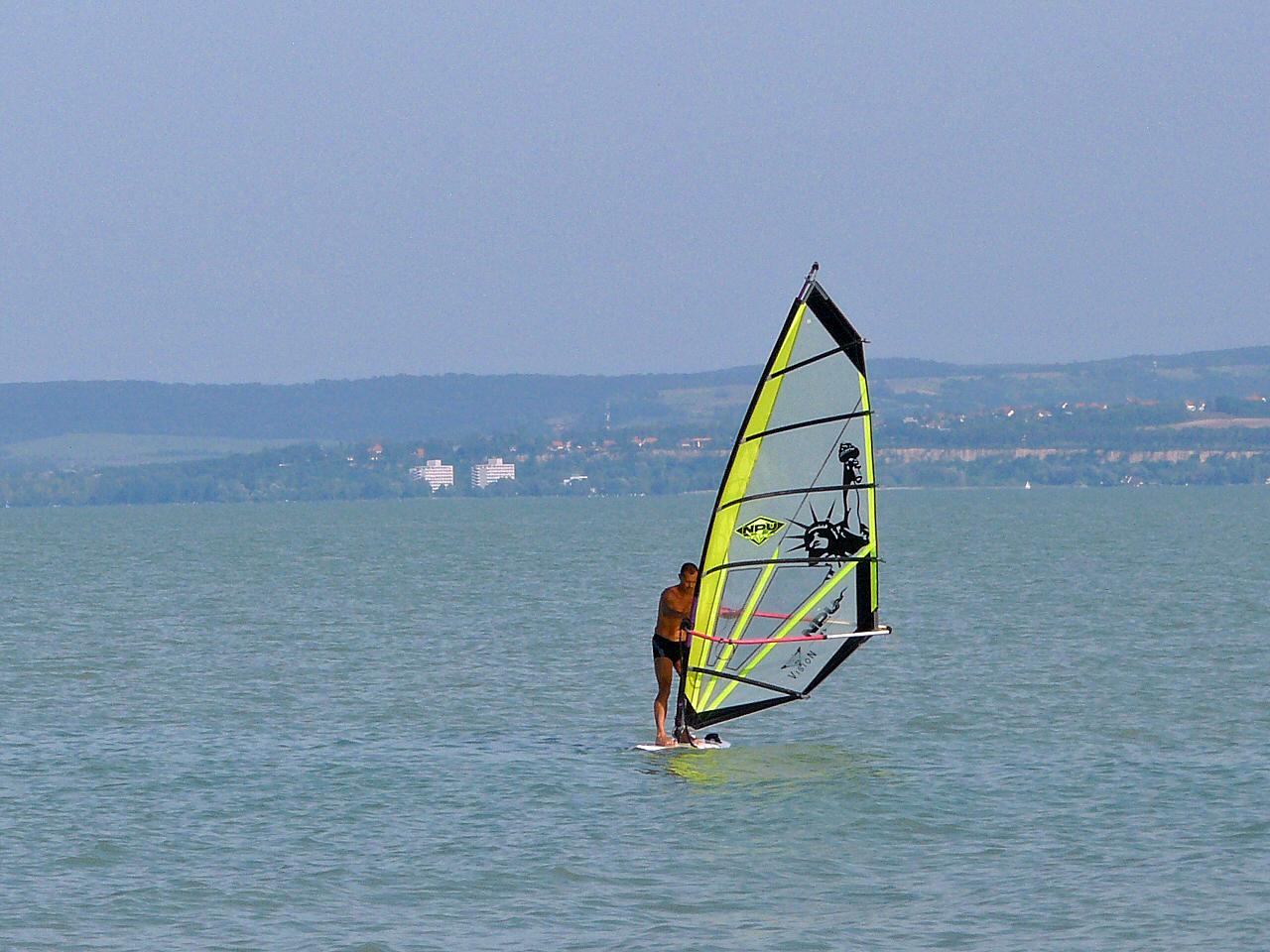 Surfen op het Balaton