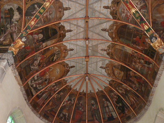 Le plafond de la chapelle Saint-Michel à Douarnenez