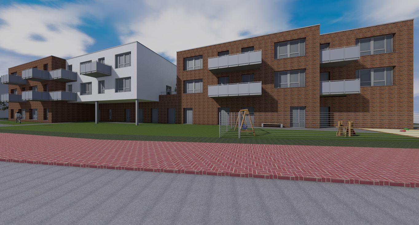 In Bergkamen wird der PueD, in diesem Fall mit altengerechten Wohnungen, auf dem Gelände der ehemaligen Zeche Grimberg 3/4 errichtet.