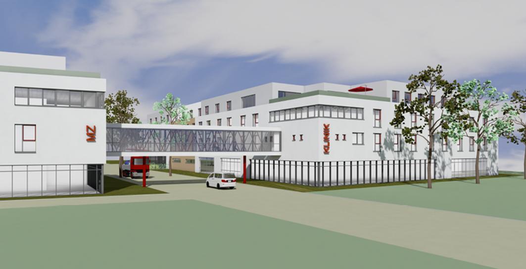 Der PueD in Emmerich am Niederrhein wird auf dem Gelände einer ehemaligen Kaserne gebaut. Der gesamte Bereich wird zurzeit erschlossen.