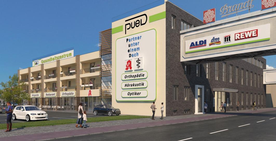 In Hagen entsteht zurzeit das Gesundheitszentrum PueD auf dem Gelände der ehemaligen Zwieback-Farbrik Brandt, die im Jahr 2000 ihre Produktion in der Stadt einstellte.