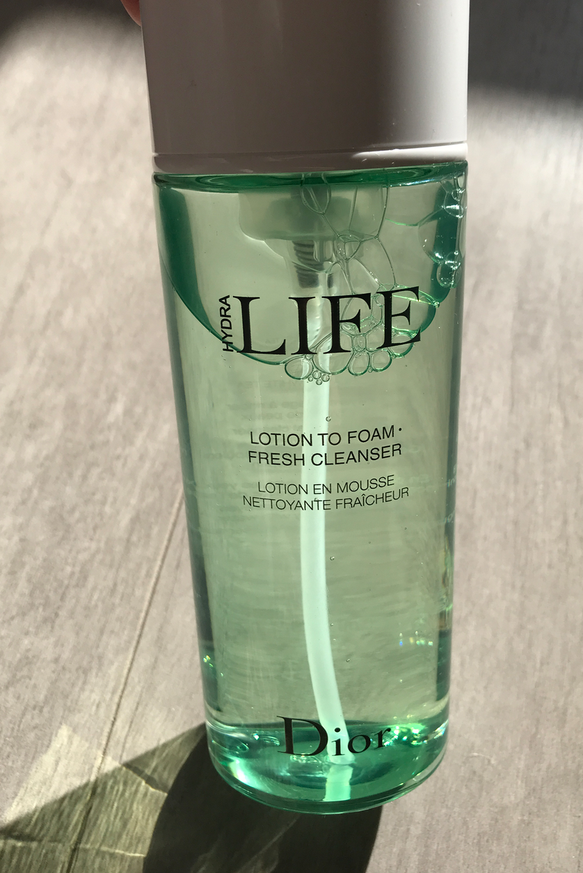 Lotion : en mousse HydraLife de Dior