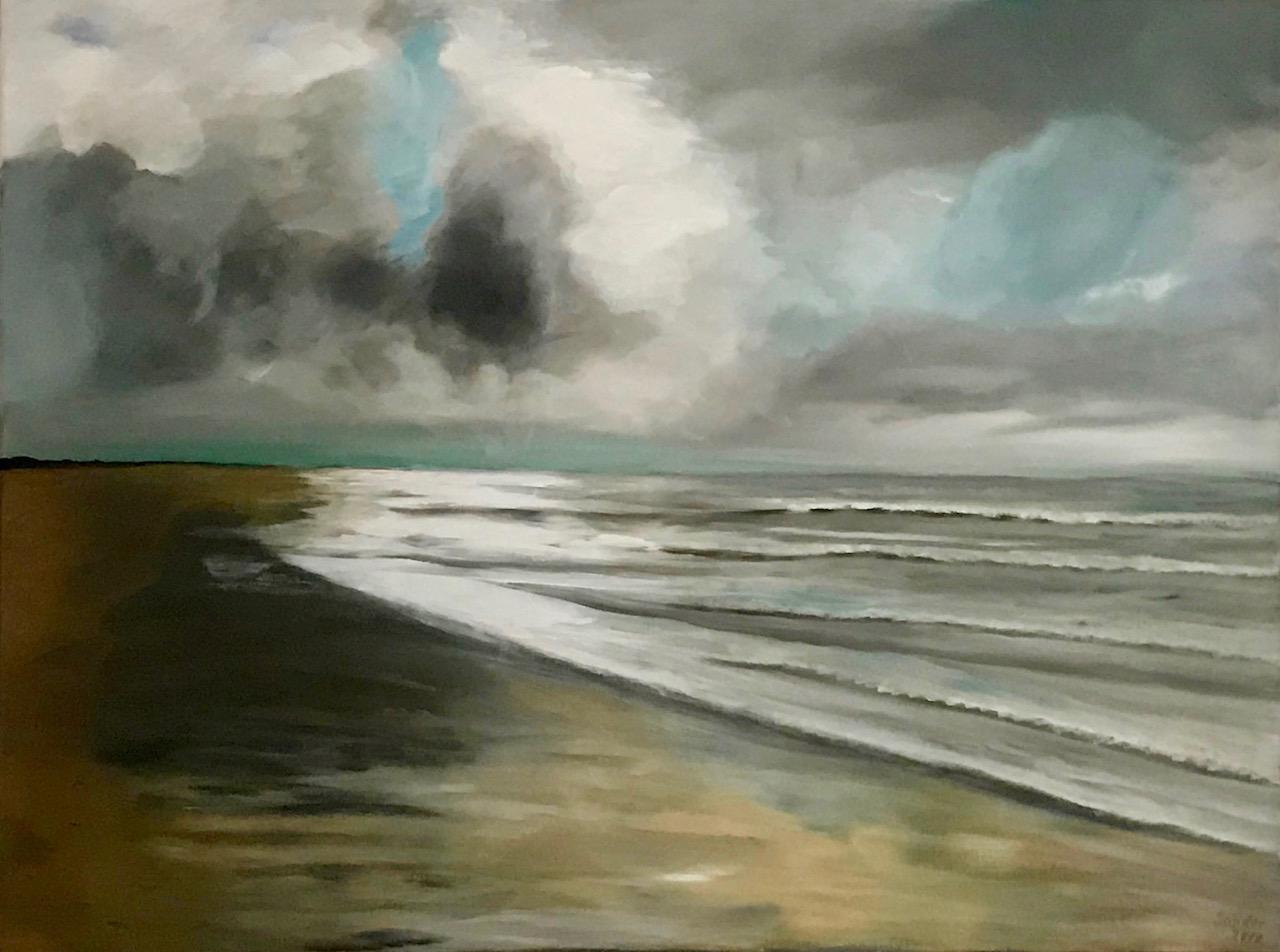 Am Meer - 3, 60 x 80 cm, Acrylfarben auf Keilrahmen, signiert und datiert 2018