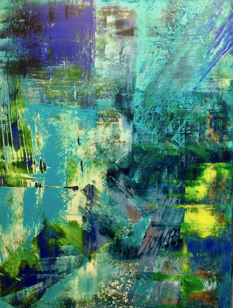 Farbkomposition - 2, 60 x 80 cm, Acrylfarben auf Keilrahmen, signiert und datiert 2017