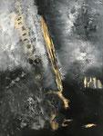 black and white - 1, 60 x 80 cm, Acrylfarben auf Keilrahmen, signiert und datiert 2018