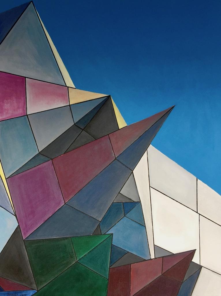 Architektur - 60 x 80 cm, Acrylfarben auf Keilrahmen, datiert und signiert