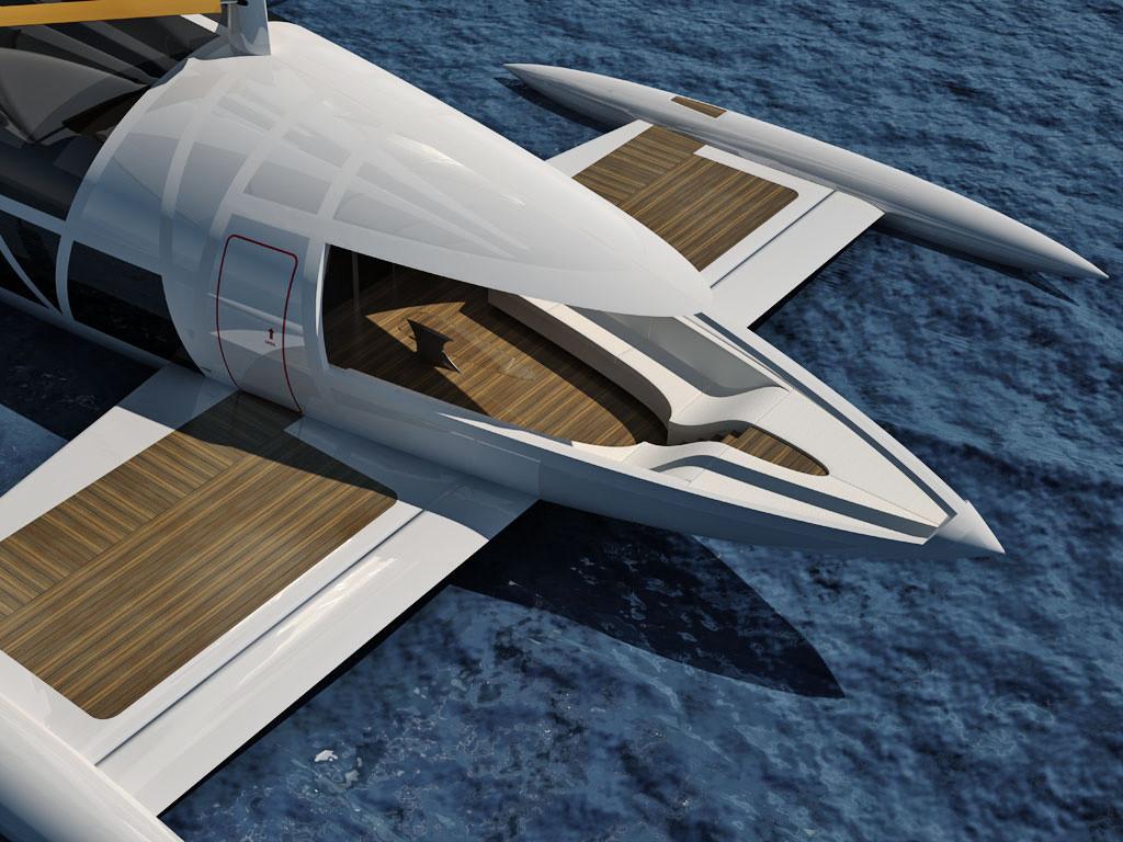 Flying yacht - OCTURI - Design & Interior, Fictional