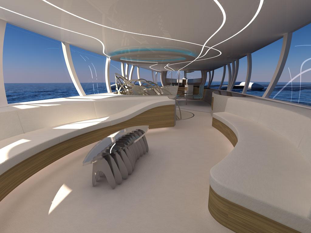 Flying yacht - OCTURI - Design & Interior, Fictional ...