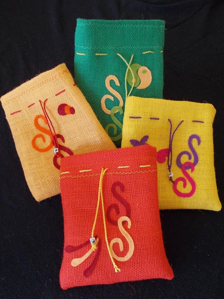 SeelenSchlüssel-Säckchen - vier Farben zur Auswahl