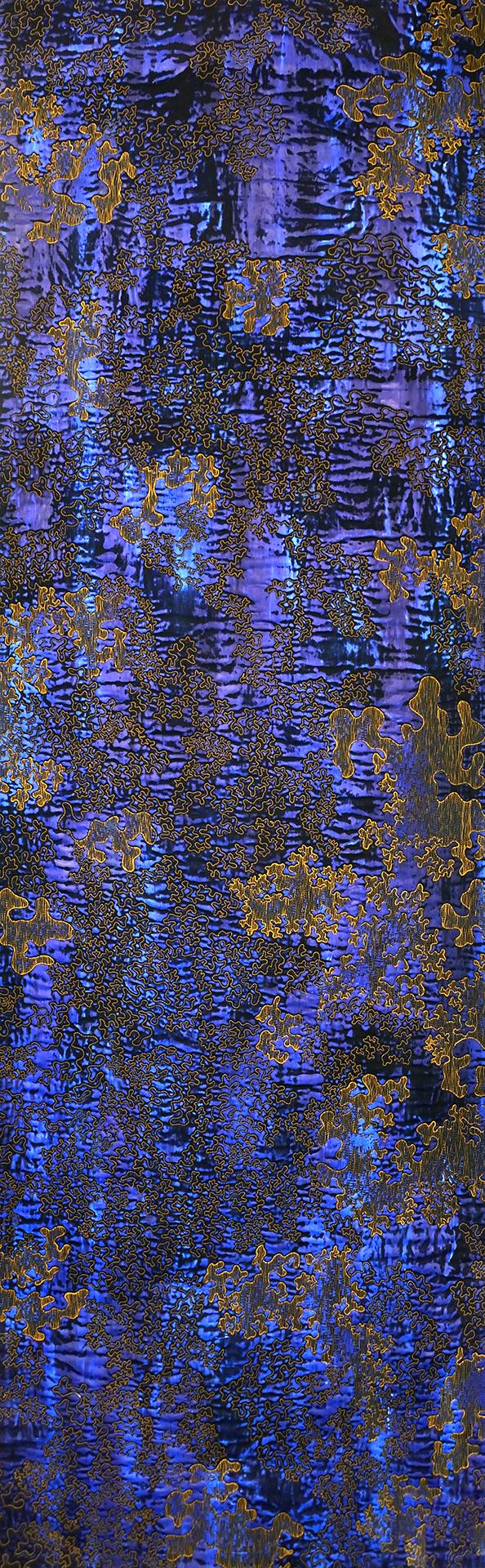 Struktur Blau 2, 2016, 199,5 x 62,5 cm