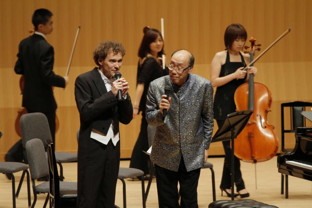 青島広志氏のオーケストラ公演にゲスト出演、テルサホール、山形 2009年12月12日