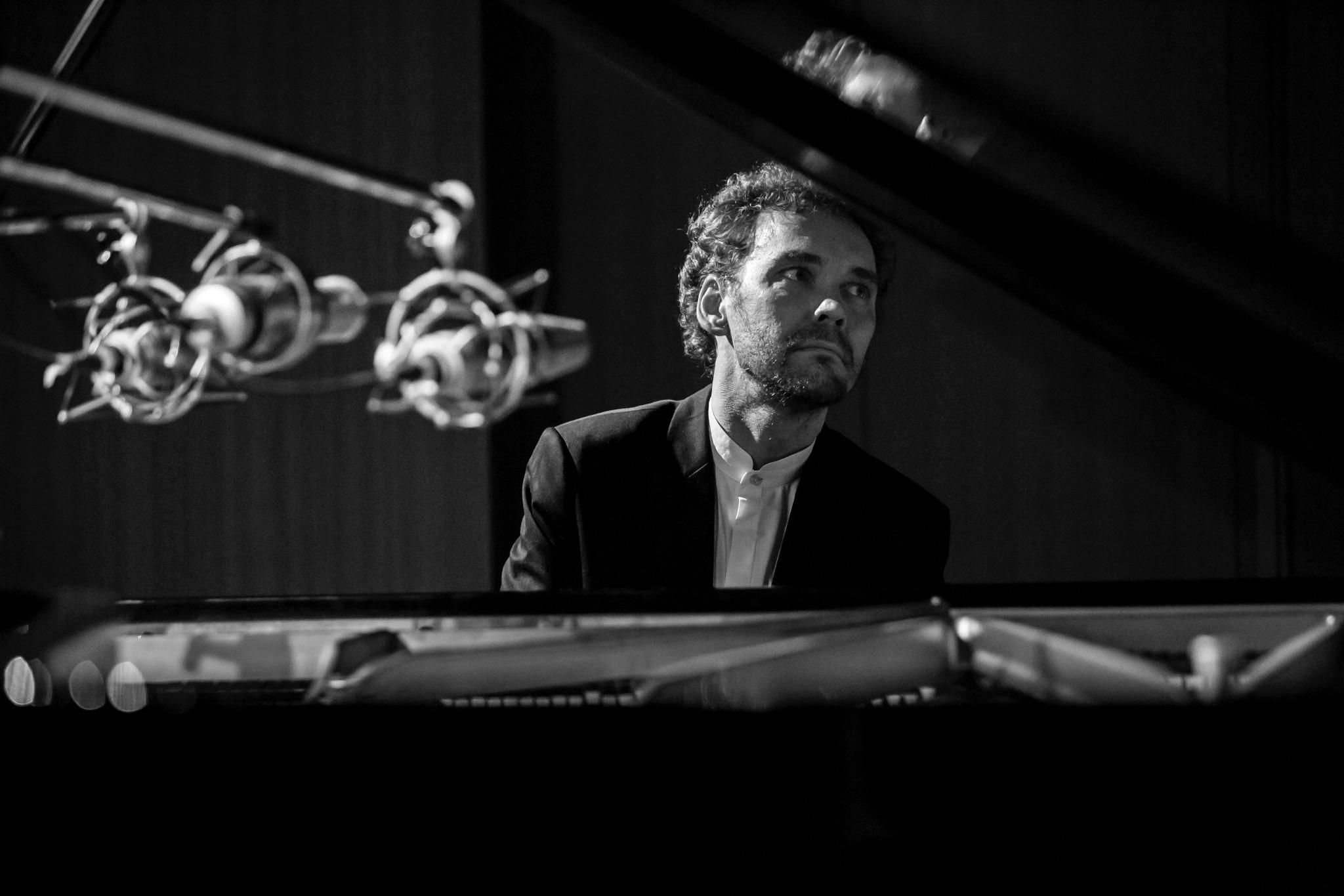 """Jazz Loves Chopin"" CD レコーディングセッション、東京、紀尾井町サロンホール、2017年2月10日"