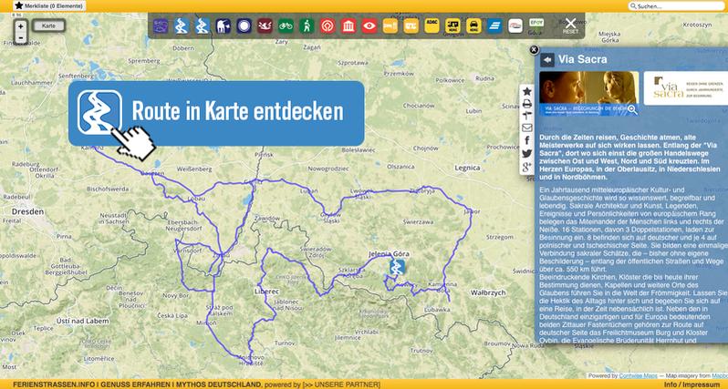Die Via Sacra in Karte entdecken! > Link zur Karte au der Internetseite der Via Sacra