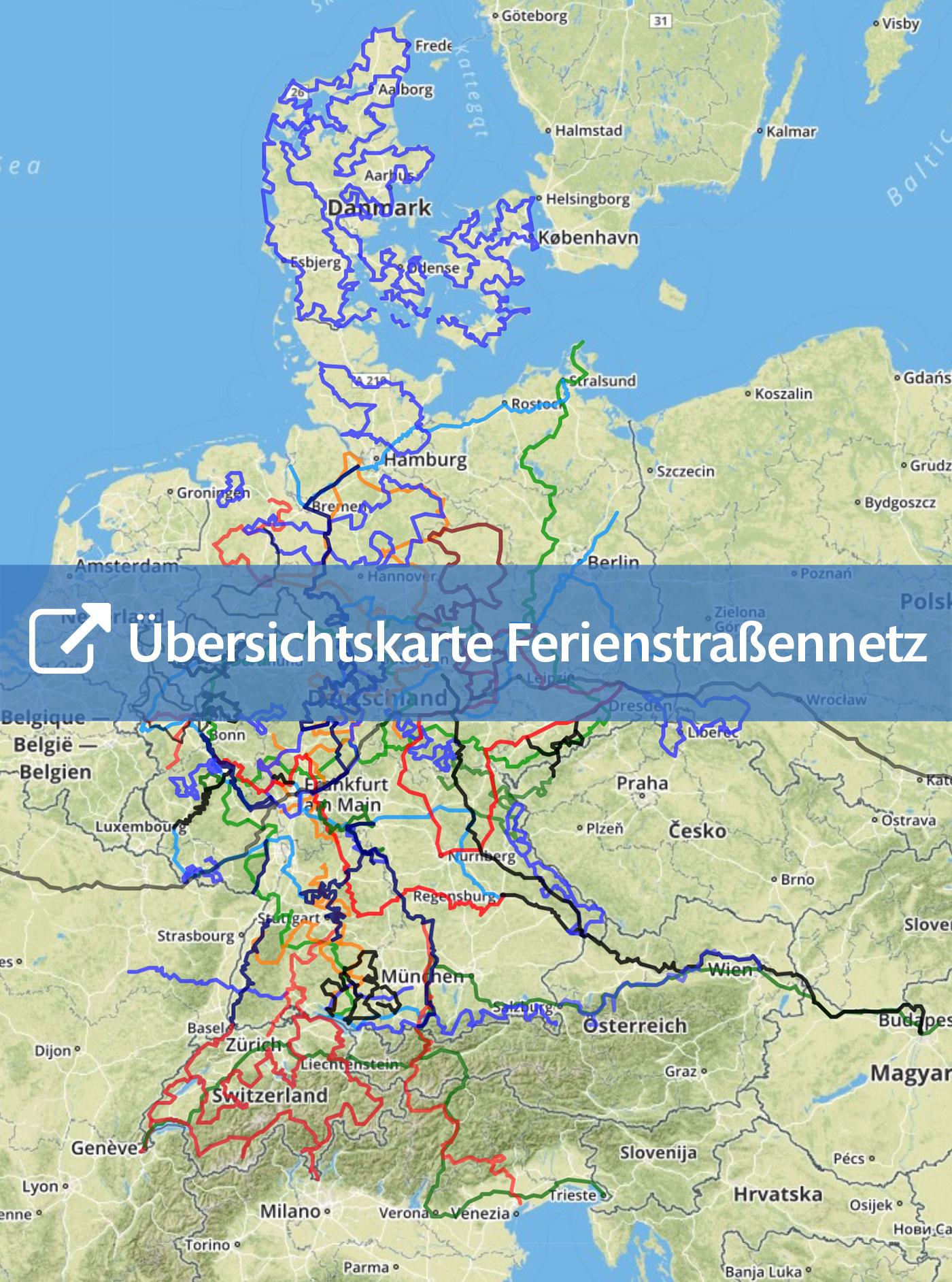 Romantische Straße Karte.Alle Routen Ferienstrassen Info