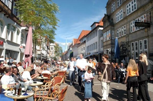 In der Fußgängerzone von Hameln © Hameln Marketing und Tourismus GmbH