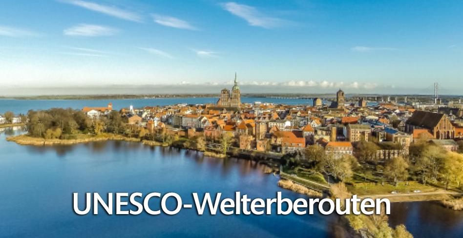 Die UNESCO Welterbestätten auf den 8 UNESCO Welterberouten erfahren!