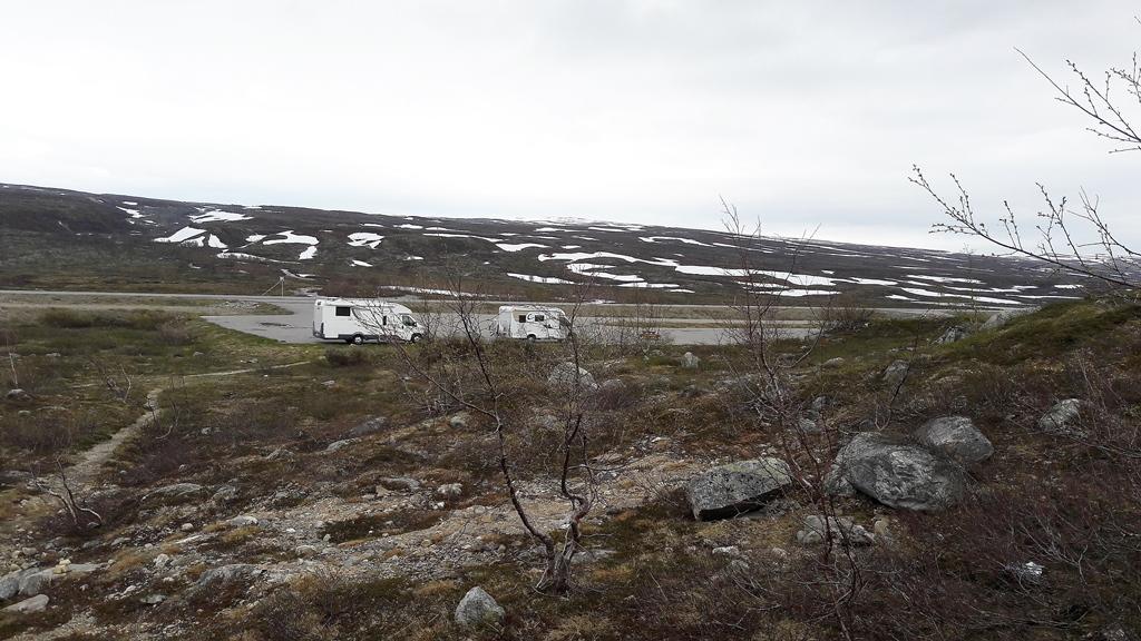 Unser Schlafplatz am Polarkreis...