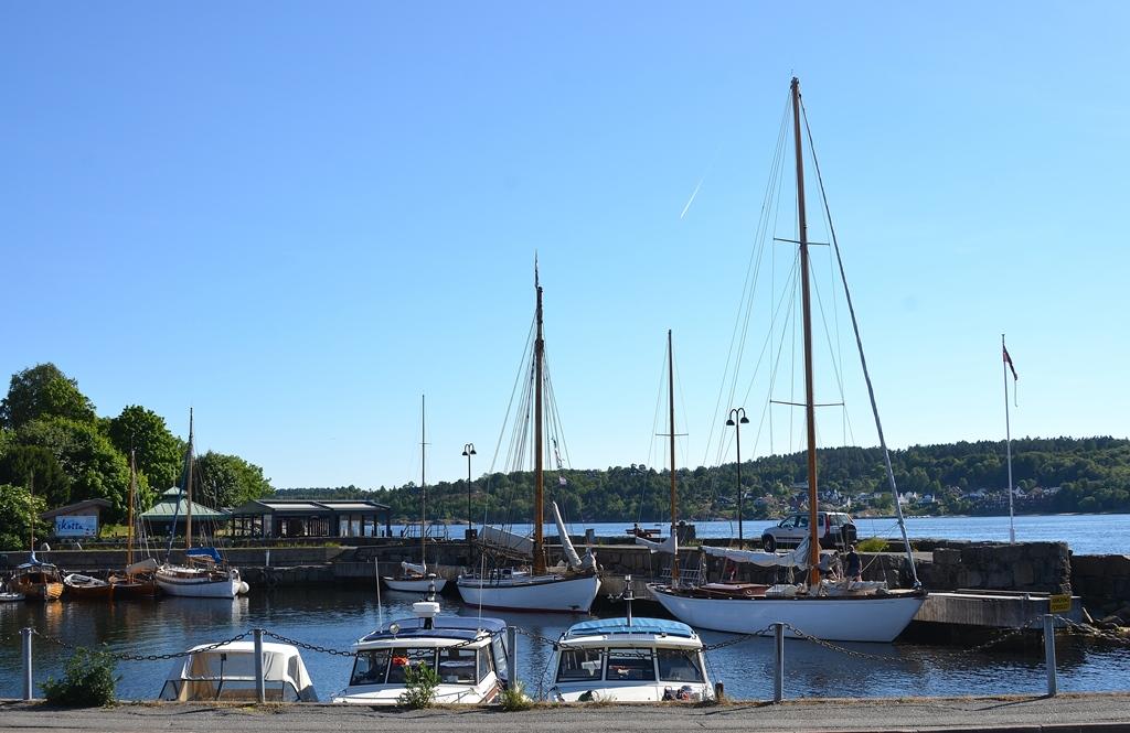 Der Hafen von Larvik
