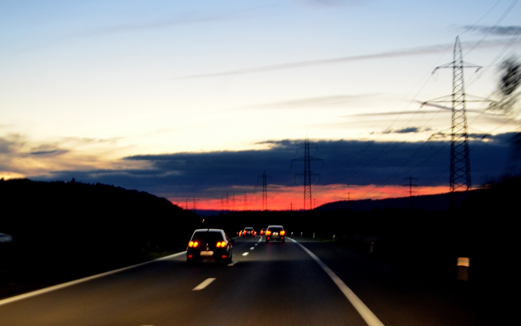 Abendrot Richtung Grenze